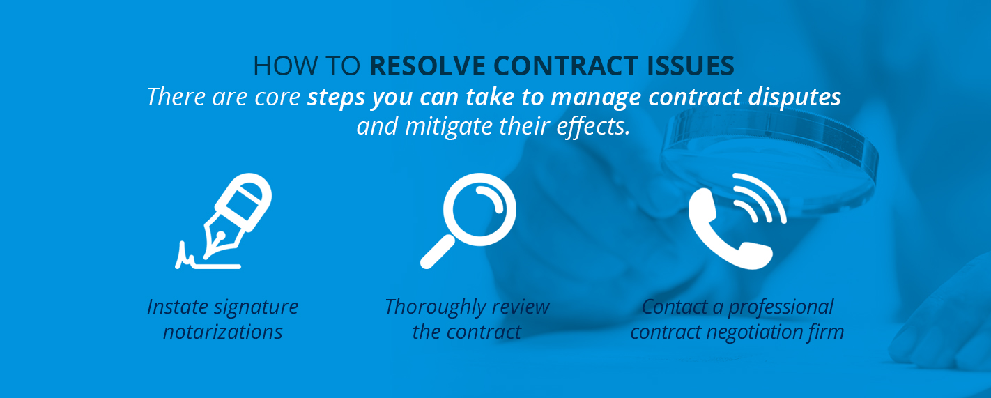 How to Resolve Contract Issues